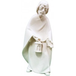 St Joseph carved in maple wood  - Dolfi Nativity Ornaments - Made in Italy - natural