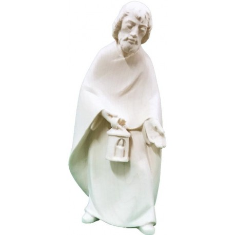 St. Joseph carved in maple wood  - natural