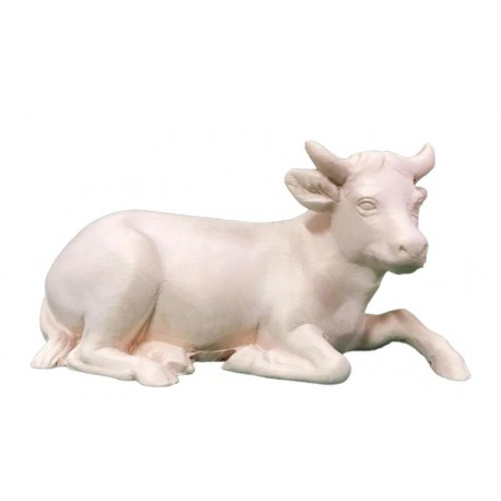 Ox carved in maple wood  - the size of the animal is in Proportion to the size of the Figures - natural