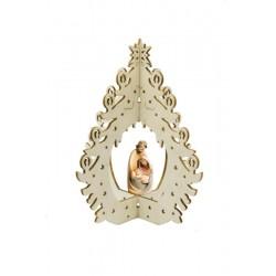 Eleganti decorazioni con la raffinatezza della sacra famiglia