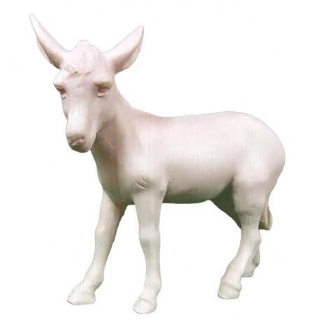 Donkey carved in maple wood  - the size of the animal is in Proportion to the size of the Figures - natural