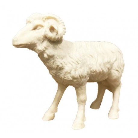 Ram carved in wood - natural