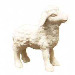 Nativity set wood lamb - natural
