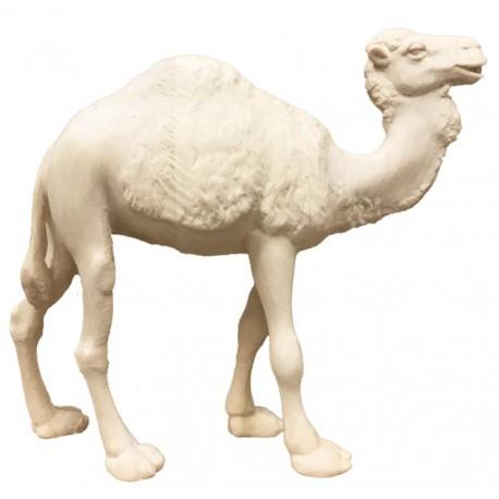 Cammello da presepe scolpito raffinatamente - Dolfi statuine presepe scolpite in legno, Ortisei - naturale