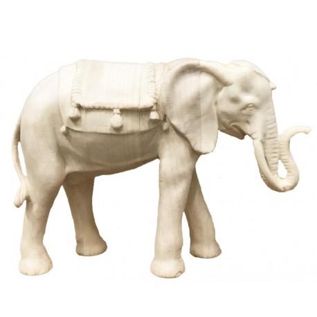 Elefante per presepe scolpito in legno - naturale