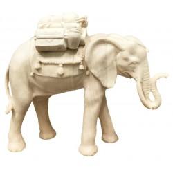 Elefant mit Gepäck aus Holz - Natur