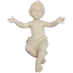 Jesu Kind Für Krippe aus Ahornholz geschnitzt, diese Holzskulptur ist eine edle Grödner Schnitzerei - Naturbelassen