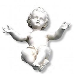 Bambinello Gesù in fibra di vetro - naturale
