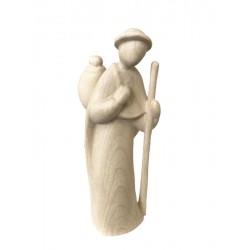 Pastore con bastone in legno - naturale