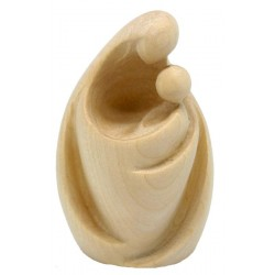 Madonna with Child modern wood carving - natural