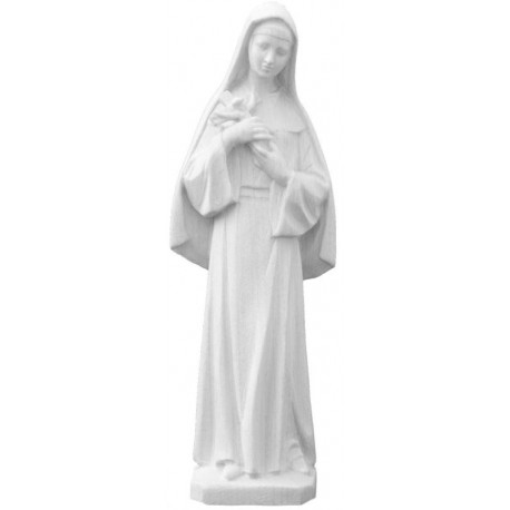 Statue of Saint Rita from Cascia with book and crucifix in her arms Statue made of polyresin and fiberglass - natural