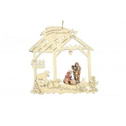 Eleganti decorazioni con la raffinatezza della sacra famiglia - colorato colori pastello