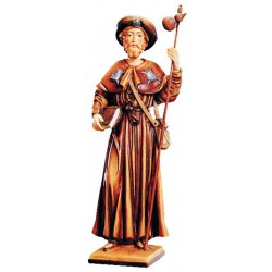 Saint Jacob Wooden Tree Sculpture - color