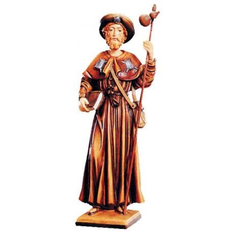 Saint Jacob Wooden Tree Sculpture - color