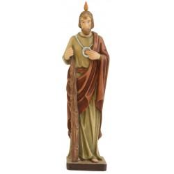 San Giuda Apostolo ritratto con libro - colorato a olio