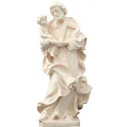 San Giuseppe col Bambino in legno - naturale
