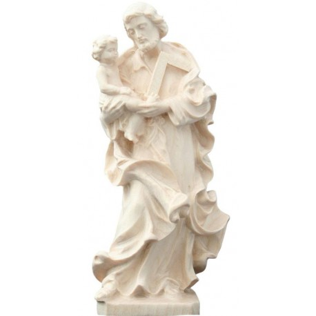 Saint Joseph with Child wood carved - natural