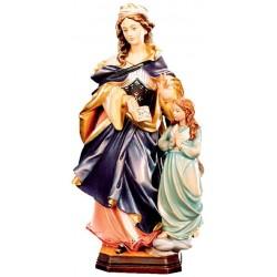 Heilige Mutter Anna in Holz geschnitzt - lasiert