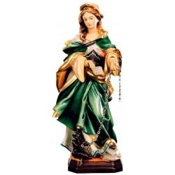 Heilige Juliana in Holz geschnitzt - lasiert