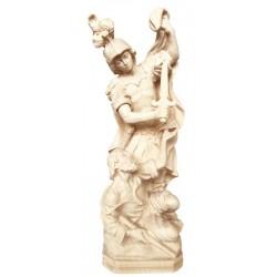 San Martino scolpito in legno di acero - Dolfi oggetti sacri antichi, Ortisei - naturale