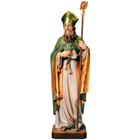 Saint Patrick - lightly colored with oil paint