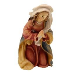 Maria del Presepe Legno - colorato a olio