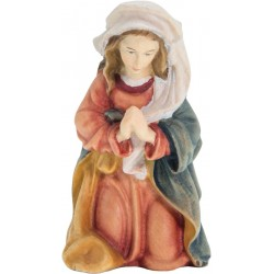 Mary, Mother of Jesus carved in maple wood  - lightly colored with oil paint