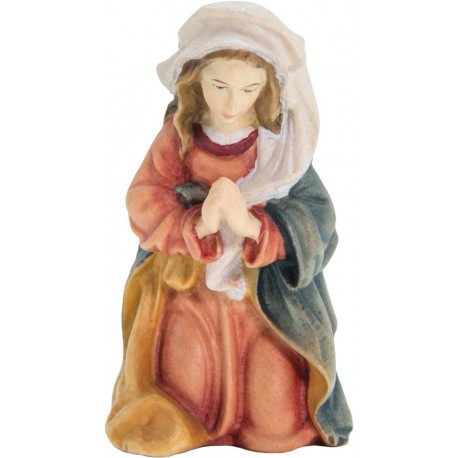 Mary, Mother of Jesus carved in maple wood  - Dolfi Deluxe Olive wood Nativity Set - Made in Italy - oil colors