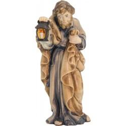 Heiliger Josef aus Ahornholz geschnitzt - Leicht mit Ölfarben lasiert