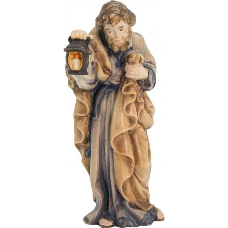 St Joseph wood nativity scene statue - color