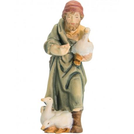 Shepherd with Ducks in wood - color