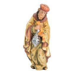 König Weiss aus Ahornholz geschnitzt, diese Holzschnitzerei ist eine wichtige Südtiroler Holzfigur - Ölfarben lasiert