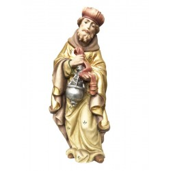 White Wise Man carved in maple wood  - Dolfi Hand carved Olive wood Nativity Set - Made in Italy
