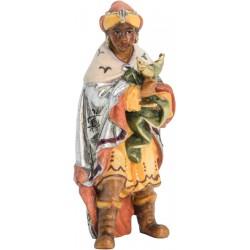 König Mohr aus Ahornholz geschnitzt, diese Holzschnitzerei ist eine wichtige Südtiroler Holzfigur - Ölfarben lasiert