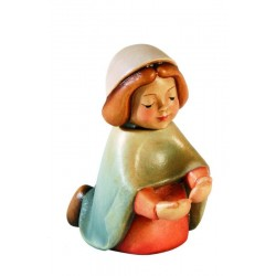 Maria del presepe di legno - colorato a olio