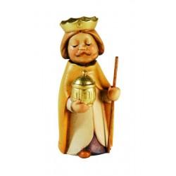 König Weiss, ist eine echte Dolfi Holz Krippenfigur, die zu den edlen Grödner Holzfiguren zählt