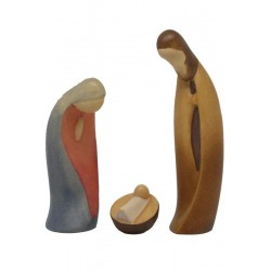 Modern Style Holy Family - lightly colored with oil paint