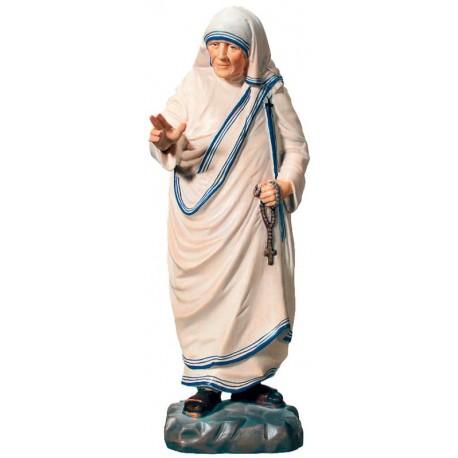 Mutter Teresa von Kalkutta Statue aus Holz - lasiert