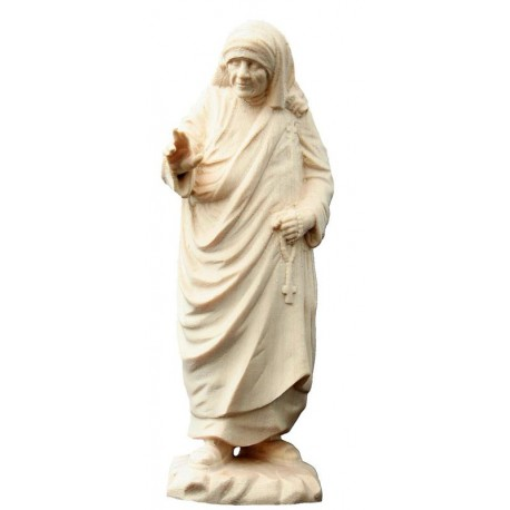 Mutter Teresa von Kalkutta Statue aus Holz - Natur
