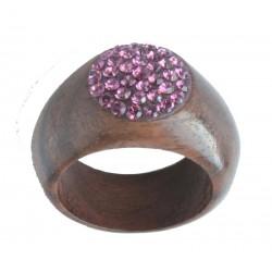 Ring Violett - 54 = 17mm    56 = 17,5mm    58 = 18mm    60 = 19mm - Dolfi Holzringe Hochzeit, Gröden