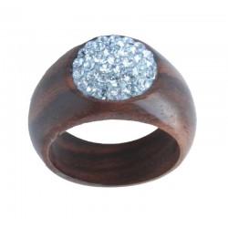 Ring Aquamarin - 54 = 17mm    56 = 17,5mm    58 = 18mm    60 = 19mm, Dolfi Halskette Holz, Südtirol