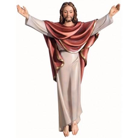 Auferstandener Jesus Christus König aus Holz - lasiert
