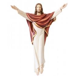 Cristo Re in fibra di vetro - colorato colori pastello