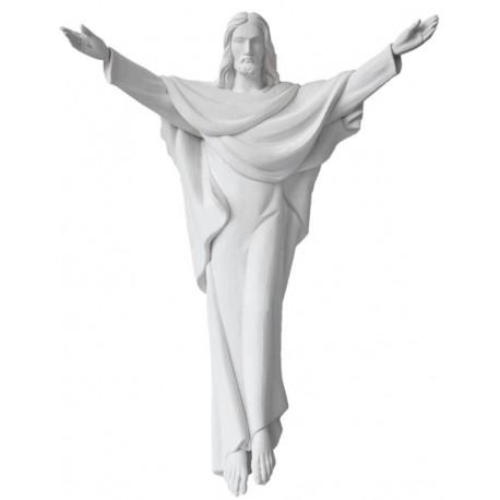 Cristo Re in fibra di vetro - naturale