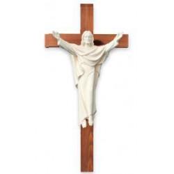 Christus König auf Kreuz aus Holz - Natur