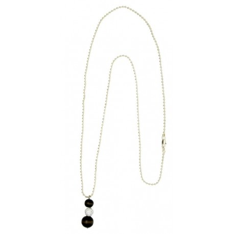 Necklace with Swarovski - 80 Cm - Dolfi Wooden Jewelry  - Made in Italy