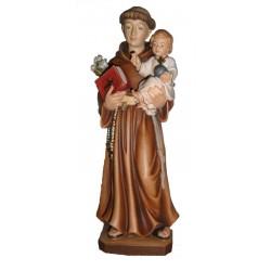 S. Antonio da Padova statuetta scolpita in legno - colorato a olio