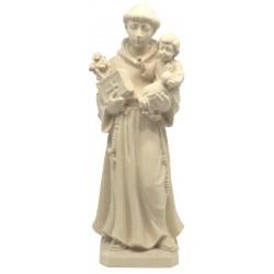 S. Antonio da Padova statuetta scolpita in legno - naturale