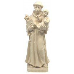Saint Anthony of Padova Statue in maple wood carved Vintage Religious Statues - Made in Italy - natural