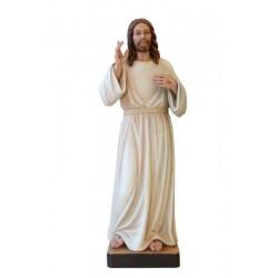 Gesù cristo Misericordioso di legno - colorato a olio